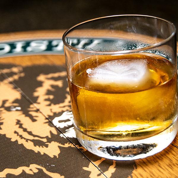 bourbon on the rocks at down one bourbon bar