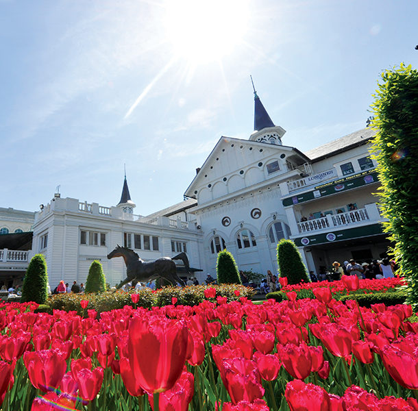 Garden Spires and tulips at Churchill Downs