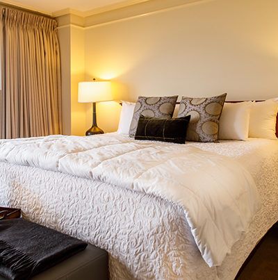 a king size bed in the galt house hotel apartment residences